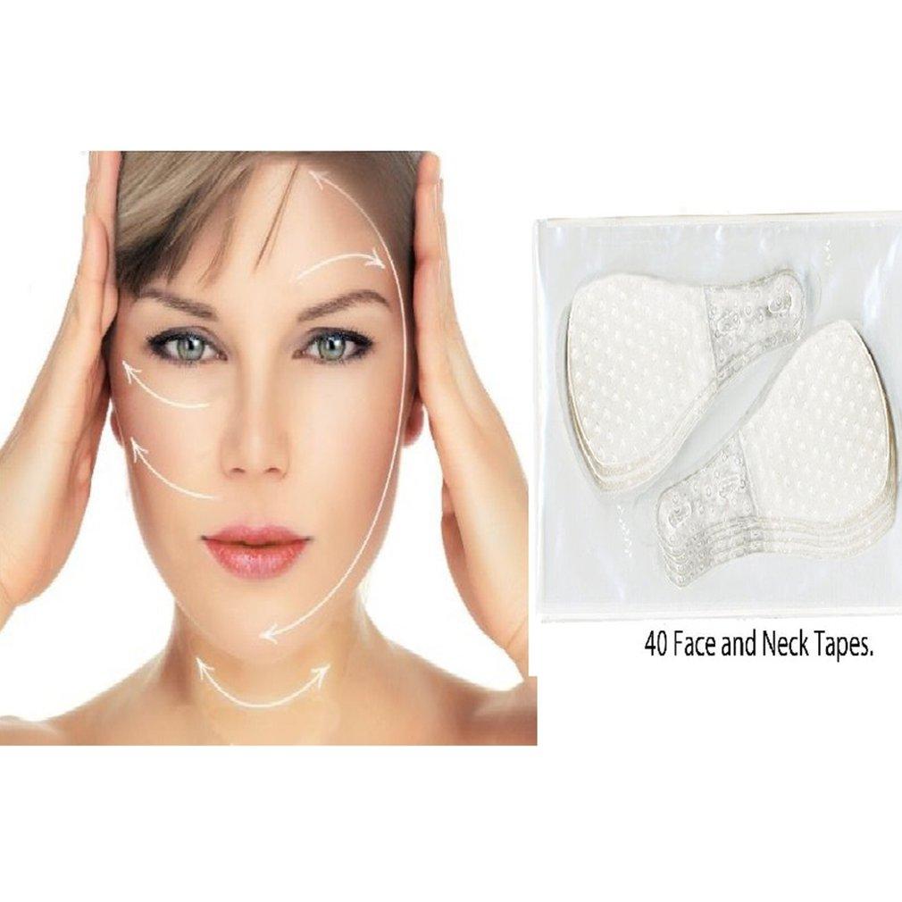 40 Pcs/Set V face shape Thin Face Invisible facial Stickers Facial Line Skin V-Shape Face Lift Tape Face Lift Tools Care