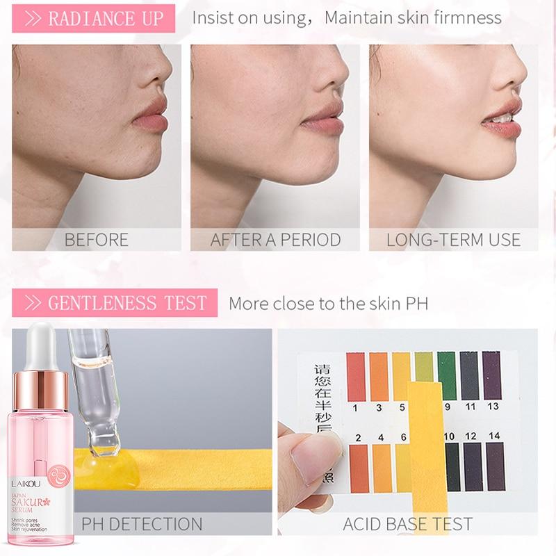 LAIKOU 17ML Japan Sakura Serum Nourish Essense Oil Control Brightening Rejuvenation Skin Whitening Serum Skin Care Facecare