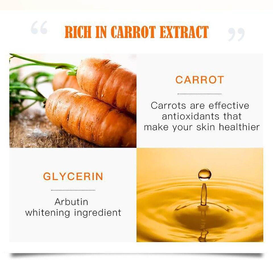 Dark Spot Corrector Whitening Serum Face Bleaching Serum Brighten Blemish Freckle Remover Natural Carrot Essence Korea Skin Care