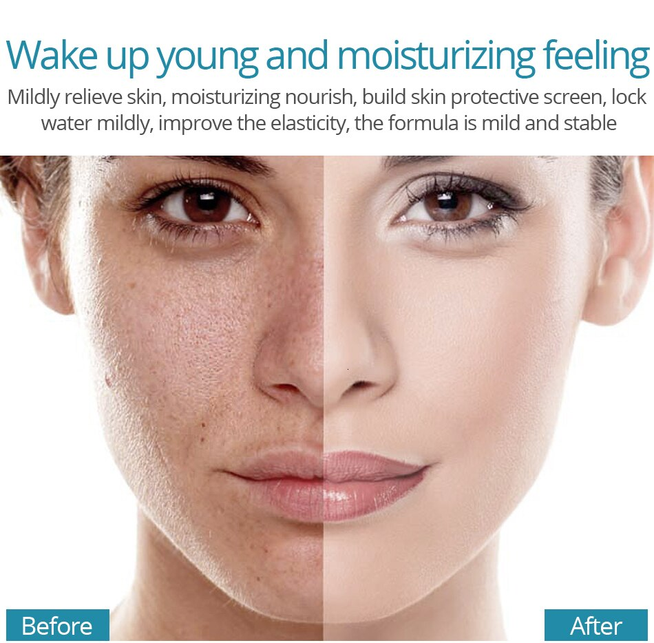 VIBRANT GLAMOUR 2Pcs Hyaluronic Acid Face Serum Shrink Pores Moisturizing Dry Rough Skin Essence Anti-Acne Whitening Skin Care