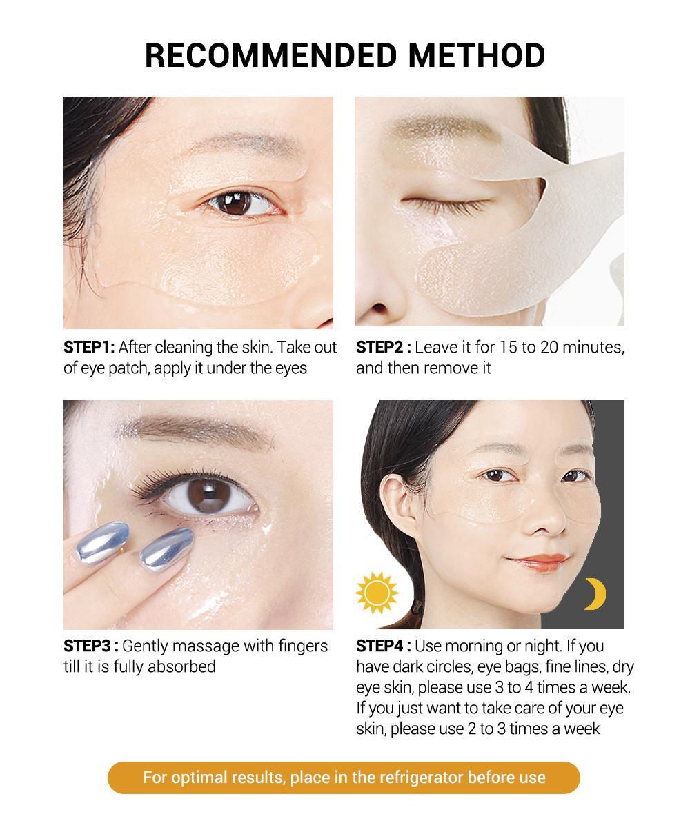 LANBENA Eye Patches Retinol Hyaluronic VC Golden Osmanthus Acid Moisturizing Serum Anti-Aging/Puffiness Dark Circle Eyes Skin Ca