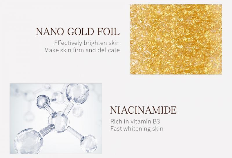 24K Gold Pure Hyaluronic Acid Snails Face Serum Anti-wrinkle Moisturize Shrink Pore Brighten Nicotinamide Skin Care TSLM1