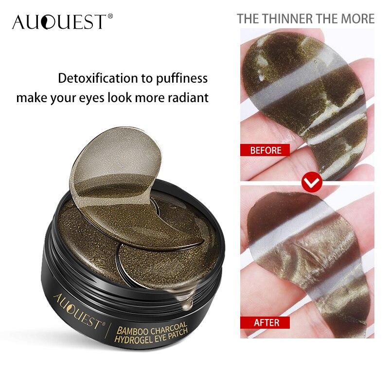 AUQUEST 60pcs Eye Patches Mask Hyaluronic Seaweed Moisturizing Dark Circles Eye Bags Remove Anti Wrinkle Beauty Eye Skin Care